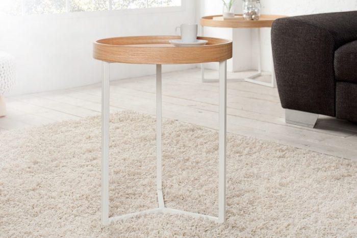 stolik MODULAR 40 cm biały dąb