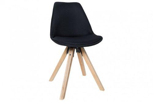 Krzesło Scandinavia  tapicerowane czarne 38124