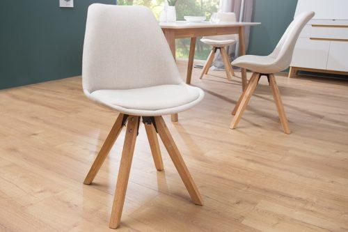 Krzesło Scandinavia  tapicerowane beżowe 38126