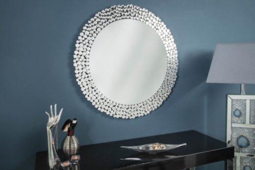 Ekstrawaganckie lustro ścienne BIG DIAMONDS okrągłe 80cm