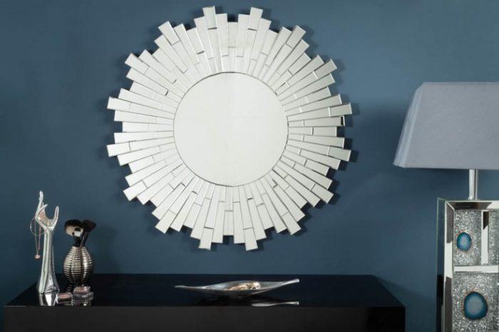 Eleganckie lustro ścienne MOSAIK 90cm okrągłe mozaika