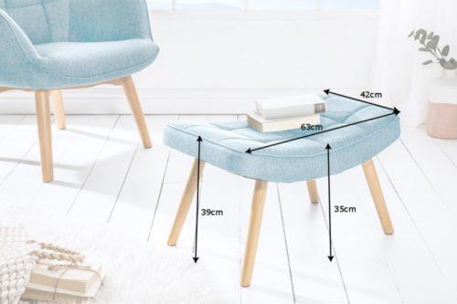 Skandynawski stołek SCANDINAVIA jasnoniebieski
