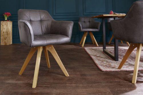 Krzesło LOFT antyczne brązowe z podłokietnikami