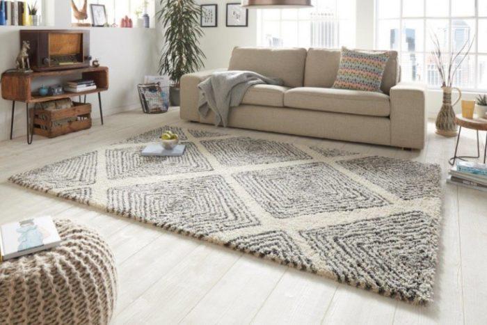 Skandynawski dywan EUPHORIA 230x160cm beżowo czarny