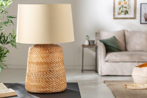 Lampa stołowa CORINN 82cm z rattanu