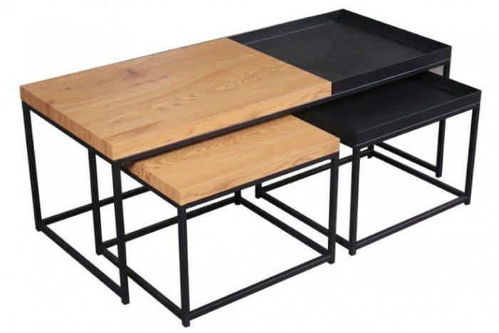 Zestaw stolików z tacami LOFT 120cm