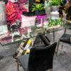 Stół ze szklanym blatem rozkładany 180/250cm