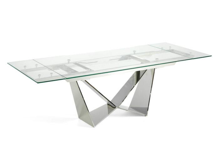 Stół rozkładany ze szklanym blatem 160/220cm