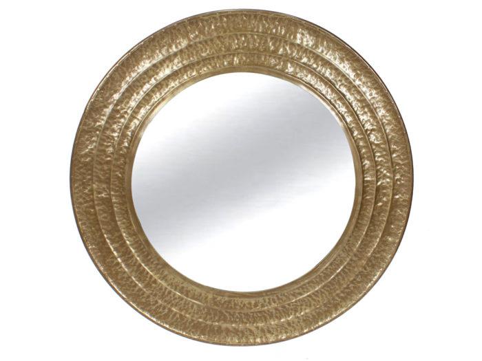 Okrągłe złote lustro 101 cm