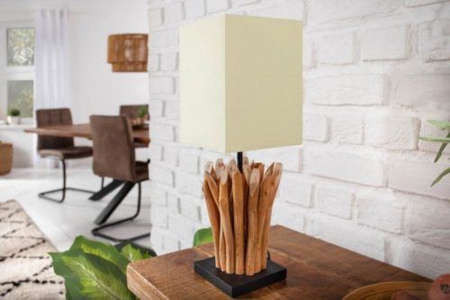 Lampa stołowa EUPHORIA 45cm drewno driftowe