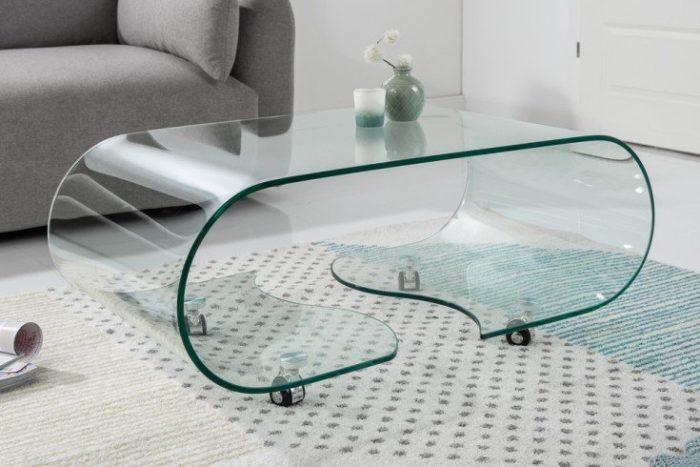 Szklany stolik Fantome 90 kawowy