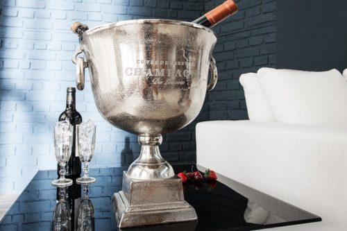 Chłodziarka do szampana 40cm srebrna