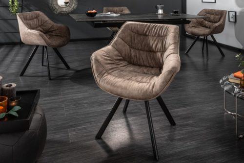 Krzesło  DUTCH aksamit ciemno szare