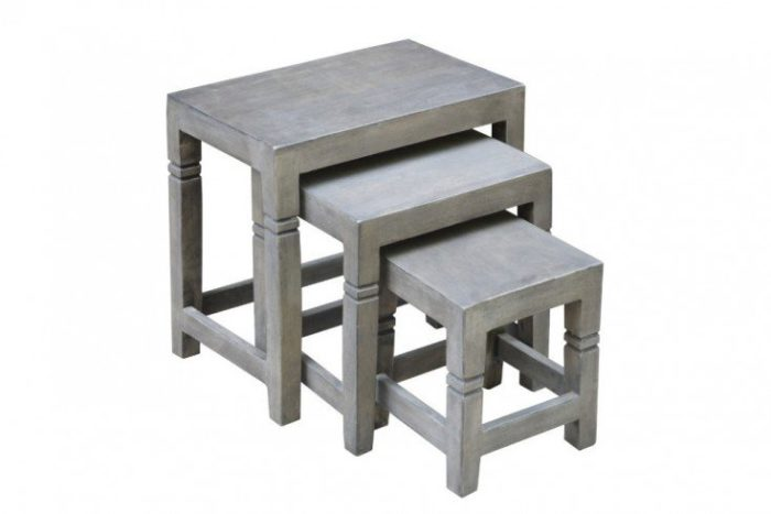Zestaw 3 stolików FINCA 45cm akacja