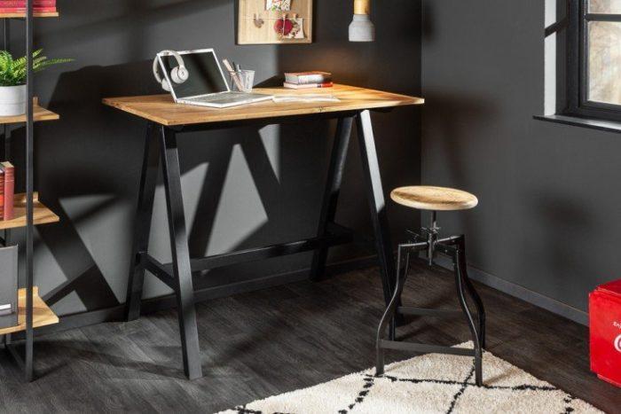 Stół barowy CASTLE 120cm naturalny dąb dziki