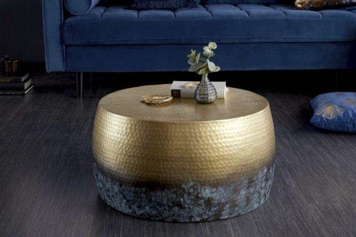 Stolik kawowy ORIENT III 60 cm złota patyna