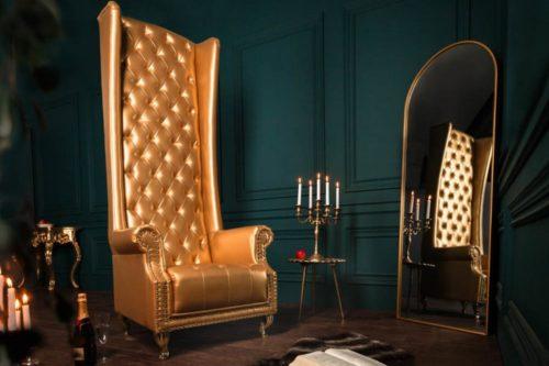 Fotel HERITAGE barokowy złoty
