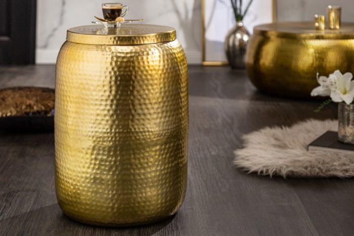 Stolik kawowy Orient Storage 48 cm złoty