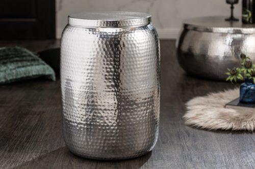 Stolik kawowy Orient Storage 48 cm srebrny