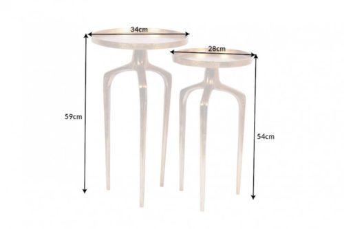 Zestaw stolików ABSTRACT 59cm złoty Shabby Chic