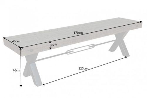 Ławka THOR 170cm drewno industrialna