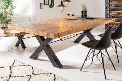 Stół THOR 200cm industrialny X-frame