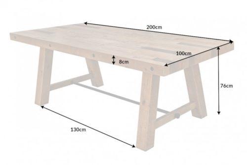 Stół FINCA 200cm drewno przemysłowy