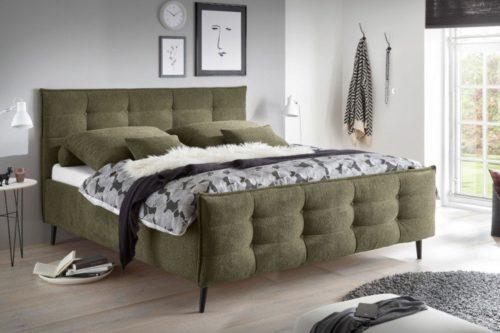Łóżko SEATTLE 160x200cm oliwkowe sypialnia