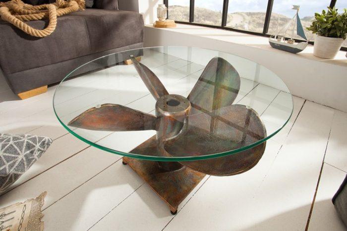 Stolik kawowy OCEAN M 60 cm miedzainy