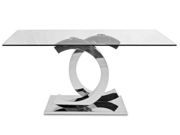 Stół ze szklanym blatem 160cm