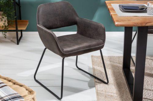 Krzesło MUSTANG antyczna szarość mikrofibra