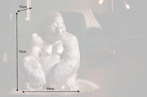 Dekoracyjna figura garyla KONG XL 75cm srebrna
