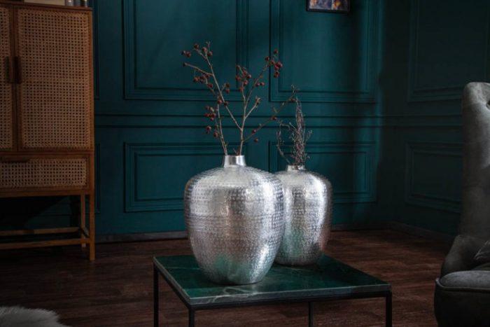 Zestaw 2 wazonów ORIENTAL 33cm srebrny