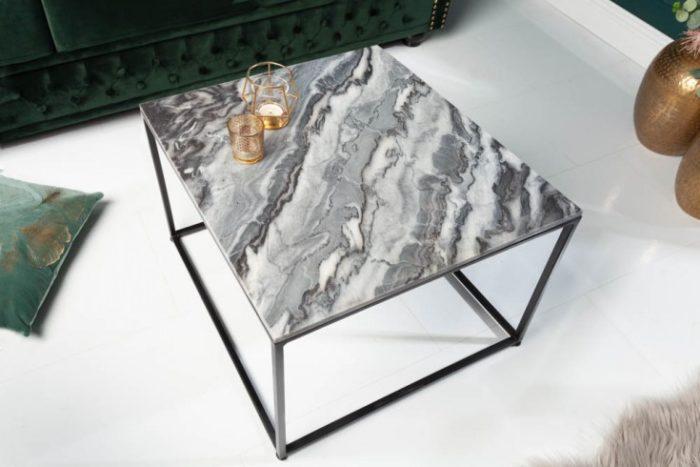 Stolik kawowy ELEMENTS 50cm szary marmur