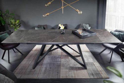 Masywny rozkładany stół do jadalni ATLAS 180-220-260cm blat grafitowy