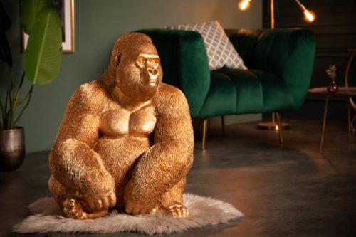 Dekoracyjna figura garyla KONG XL 75cm złota
