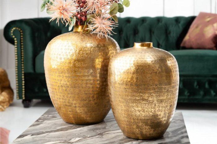 Zestaw 2 wazonów ORIENTAL 33cm złote