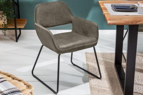 Stylowe krzesło MUSTANG szara mikrofibra