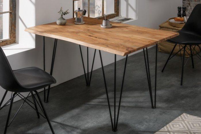 Stół w stylu retro MAMMUT 120 cm drewno akacjowe