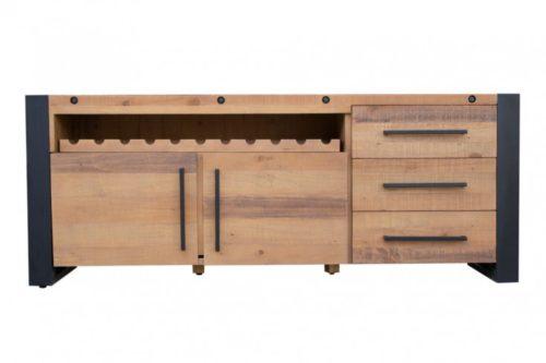 Komoda THOR 195 cm z drewna sosnowego