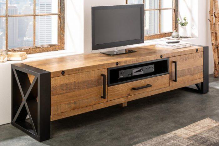 Szafka pod telewizor THOR 200cm z litego drewna