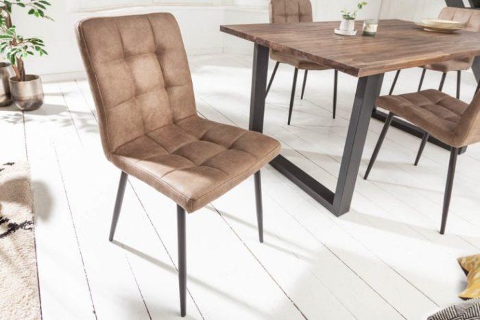 Krzesło MODENA brązowe retro