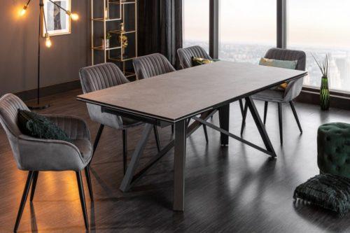 Masywny rozkładany stół do jadalni ATLAS 180-220-260cm blat ceramiczny