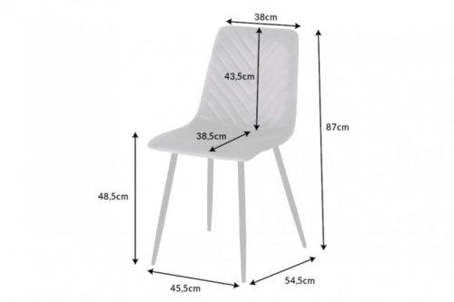 Krzesło AMAZONAS designerskie szare