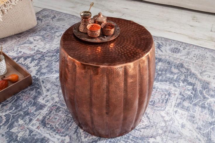 Ręcznie wykonany stolik boczny MARRAKESCH 42cm kolor miedzi