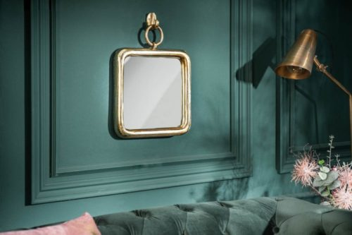 Eleganckie wiszące lustro ścienne PORTRAIT 35cm złote