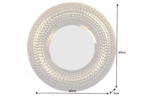 Ręcznie robione lustro ścienne ORIENT 60cm złote