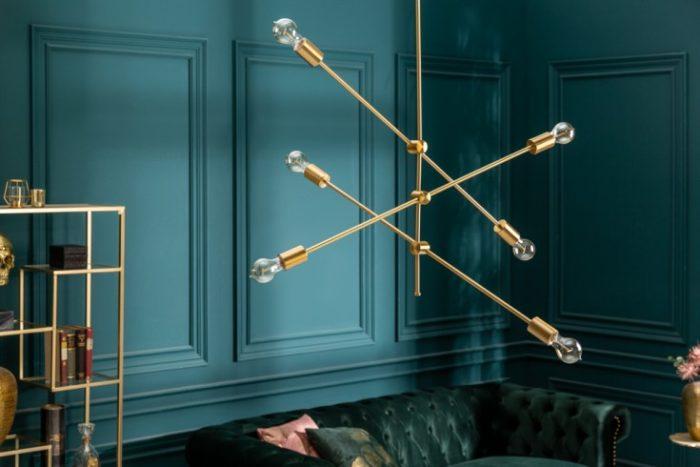 Elegancka lampa wisząca VARIATION 128cm złota