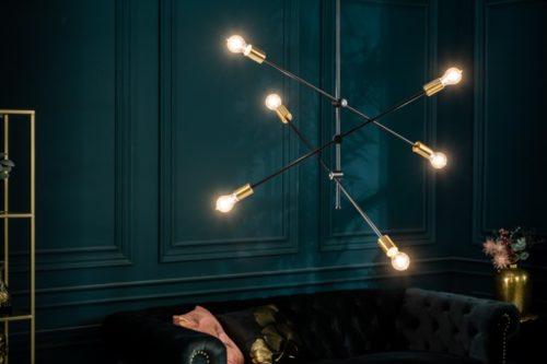 Elegancka lampa wisząca VARIATION 128cm czarna