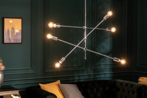 Elegancka lampa wisząca VARIATION 128cm w kolorze srebrnym